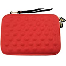 AZ-Cover 7-Inch Tablet Semi-rigid EVA Bubble Foam Case (Red) With Wrist Strap For LG G Pad V410 AT&T GSM Unlocked 7-Inch 4G LTE Tablet + One Capacitive Stylus Pen