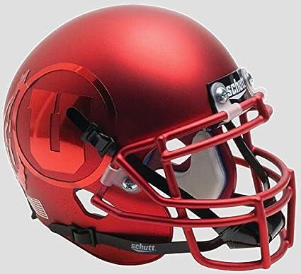 Utah Utes Schutt White Red Stripe Replica Football Helmet College Replica Helmets
