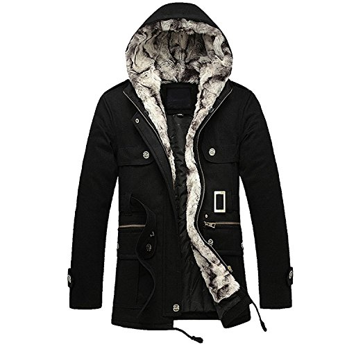 Partiss Warm Thickened Winter Coat L Black by Partiss