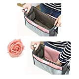 Baby Stroller Organizer Bag with Cup Holder and Shoulder Strap & Hooks, Best Gift for Moms Multi-Used as Diaper Bag, Handbag Organizer or Shoulder Bag, Universal Fit, Water-Resistant, Grey