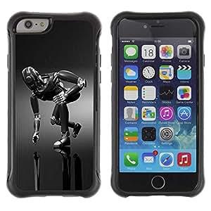 "Planetar® ( Mech Robot ) 4.7"" iPhone 6 Hybrid Heavy Duty Shockproof TPU Fundas Cover Cubre Case"