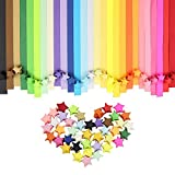 Htianc 1080pcs Origami Stars Papers Children Kids DIY Craft Assorted Colors,Lucky Star Paper,Folding Strips-27 Colors