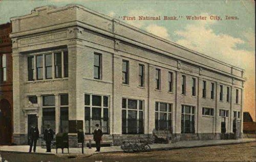 First National Bank Webster City  Iowa Original Vintage Postcard