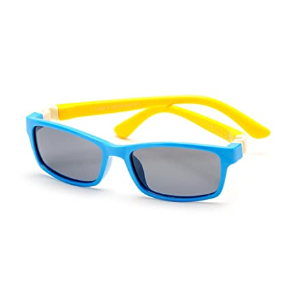 Aclth Niños Gafas de Sol polarizadas de los niños del Marco Completo del  Gel de Silicona b0e6dc3283