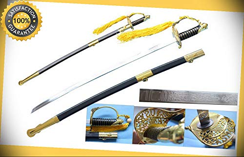 (39'' Civil War Officer Sword American Replica Costume LARP perfect for cosplay outdoor camping)
