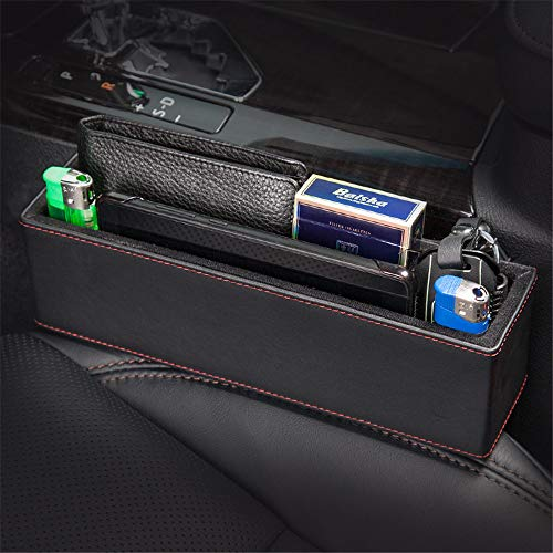 DYHQQ 2 Pack Car Seat Gap Filler Console Side Pocket With Coin Collector