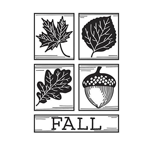 Darice Embossing Folder, Fall Square Collage