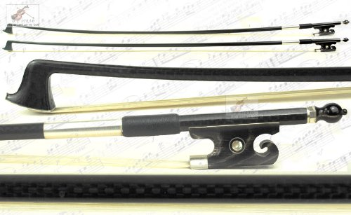parte superior Fibra de Carbono 4/4Violín con Negro ox-horn Caracol cola frog-d Z Strad # 876