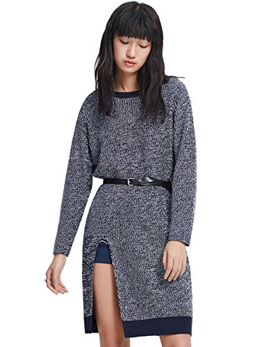 meters-bonwe-womens-fashion-side-split-sweater-dress-with-belt-deep-blue-m