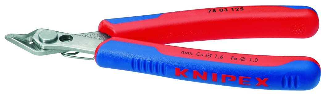 KNIPEX 78 03 125 Electronics Super Knips Comfort Grip