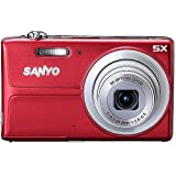 Sanyo 14MP Digital Camera w/ 5x Optical Zoom, 3″ LCD Display – RED Color