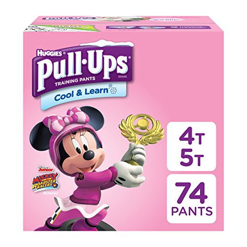 Pull-Ups Cool & Learn, 4T-5T (38-50 lb.), 74 Ct. Potty Training Pants for Girls, Disposable Potty Training Pants for Toddler Girls (Packaging May Vary)