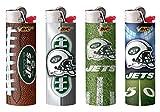 BIC New York Jets Lighters 4 Pack, NFL Officially Licensed Cigarette Lighters
