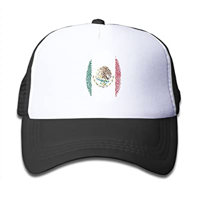 Tailing Mexico Flag DNA Finger Kids Adjustable Mesh Cap Trucker Hats Baseball Cap for Sports