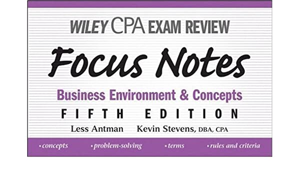 wiley cpa examination review focus notes antman less stevens kevin