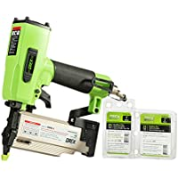 "Grex Power Tools P650LX with Combo Pack of Fasteners 23 Gauge 2"" Length Headless Pinner, 1 Touch Override Lock-Out, and Extra Powerful Driving Motor"