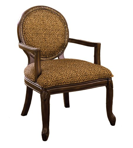 Furniture of America Court Padded Leatherette and Hand-Carve