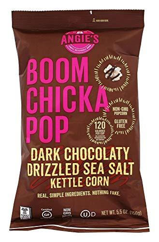 (ANGIES BOOMCHICKAPOP Dark Chocolaty Drizzled Sea Salt Kettle Corn, 5.5 oz)