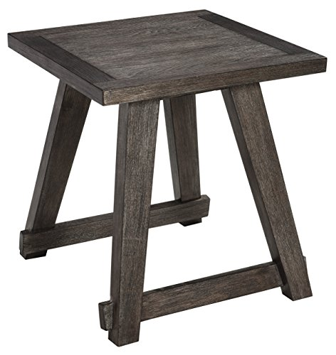 Plank Cherry Table (Ashley Furniture Signature Design - Harpoli Contemporary Square End Table - Dark Brown)