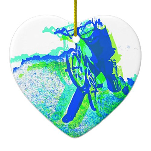 Zazzle Freestyle Bmx Rider in Cool Pop Art Style Ceramic Ornament (Freestyle Bmx Riders)