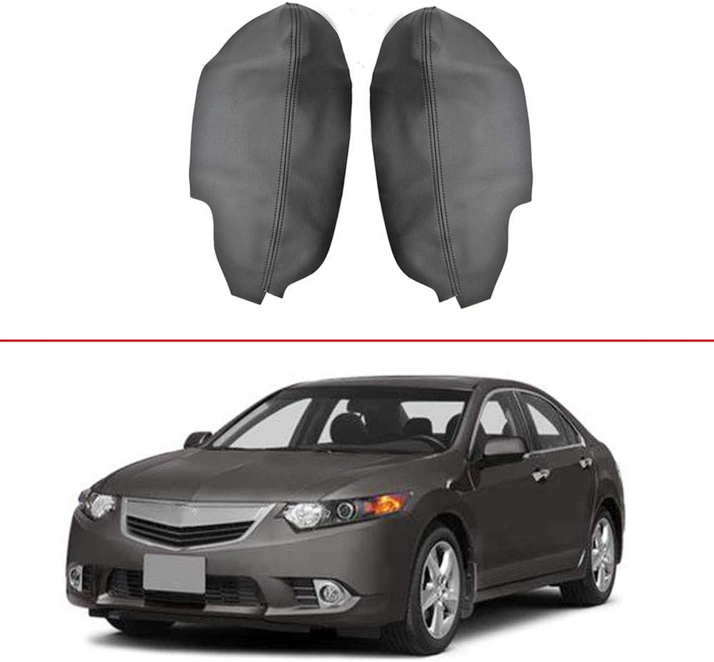 labwork Leather Door Panel Insert Cards Cover Synthetic Padded Door Panel Insert Cards Fit for Acura TSX 2009-2014