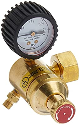 """Goss EA-1G Acetylene Regulator with """"A"""" Hose Fitting and """"B"""" Acetylene Tank Connection"""
