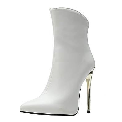 bd82f796d56d YE Bottines Sexy Femme Talons Hauts Aiguilles Bottes Courtes Chaude Hiver  Bout Pointu Ankle Boots Winter Shoes  Amazon.fr  Chaussures et Sacs
