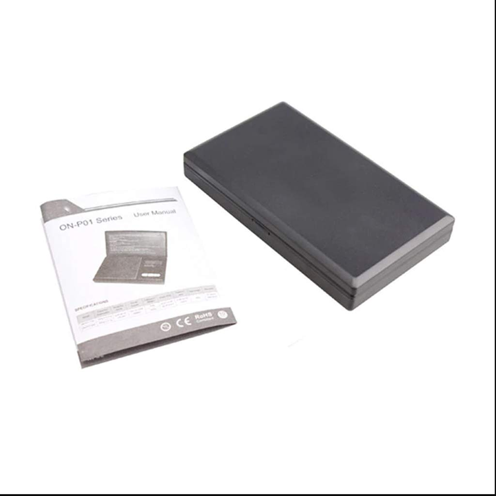 Calidad Profesional Precisa Pocket Mini 500g X 0.1g Escala Digital Herramienta de Escala de Pesaje Electrónica Precisa Electrónica HR (Color : Black): ...