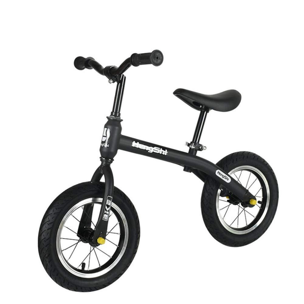 schwarz 12'' YSH 12 Zoll Kinder Aktivität Produkt Kind Balance Bike Roller Baby Walker Roller 2-6 Jahre Alt Baby Kein Fußpedal,schwarz-12''
