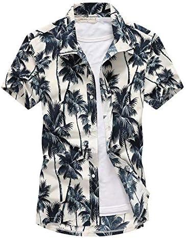 LFNANYI Moda para Hombre de Manga Corta Camisa Hawaiana de Secado rápido más el tamaño S-5XL Verano Casual Floral Camisas de Playa para Hombres M: Amazon.es: Deportes y aire libre