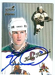 Autograph 168677 Arizona Phoenix Coyotes All Star 1999 Pacific Aurora No. 113 Keith Tkachuk Autographed Hockey Card