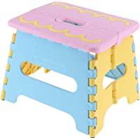 Baosity Portable Folding Step Stool Anti-Slip Surface for Kids and Adults with Handle Polypropylene Stool