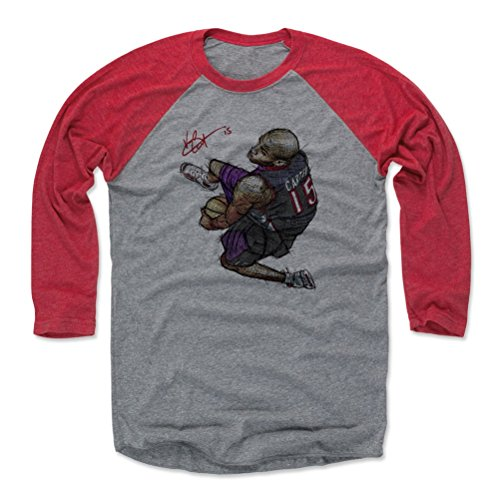 500 LEVEL Vince Carter Baseball Tee Shirt X-Small Red/Heather Gray - Vintage Toronto Basketball Raglan Shirt - Vince Carter Between The Legs Dunk Toronto ()