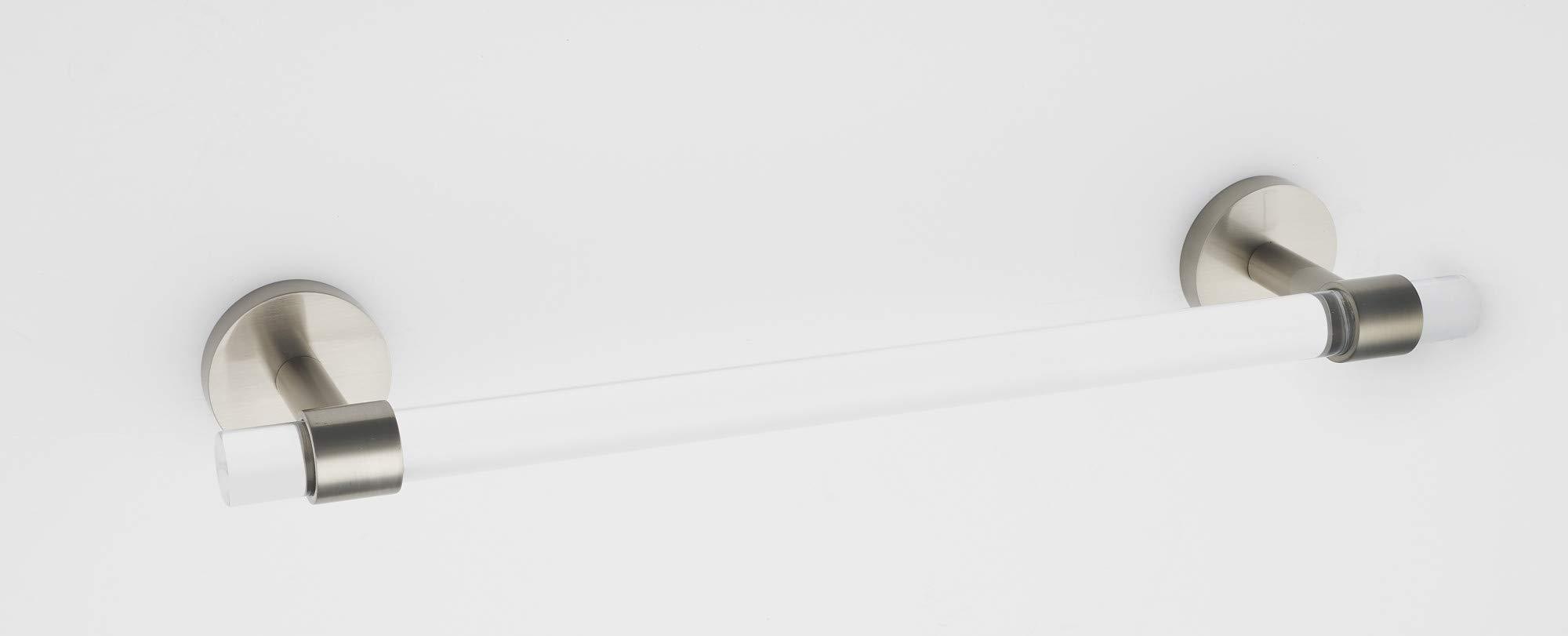 Alno A7220-24-SN Contemporary Acrylic 24 Inch Wide Towel Bar