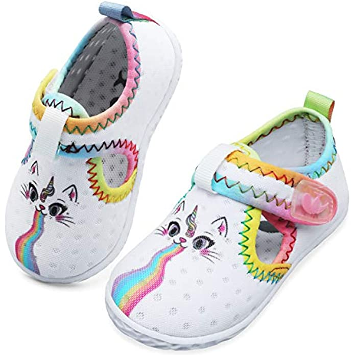 JIASUQI Baby Boys Girls Barefoot Swim Pool Water Shoes Beach Walking Sandals Athletic Sneakers