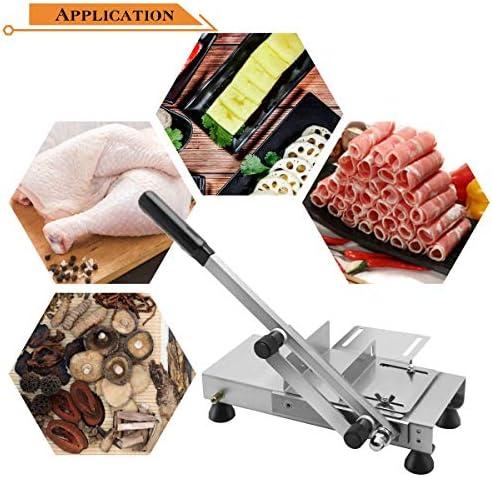 BAOSHISHAN Cortador manual de carne congelada para pollo, pato, pescado, carne congelada, frutas, verduras, uso doméstico y comercial ST-500B
