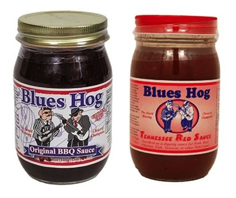 Blues Hog Original BBQ Sauce 16 oz & Tennessee Red Sauce, 16 oz (Combo Pack)