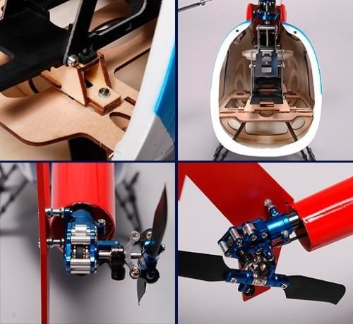 KDS Hughes MD500 News Chopper Fiberglass Scale Fuselage Body