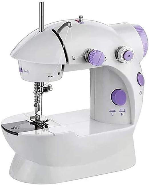 Mini máquina de coser eléctrica, máquina de coser y bordar manual ...