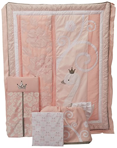 Lambs & Ivy Swan Lake Bedding Set, Pink/White/Grey by Lambs & Ivy