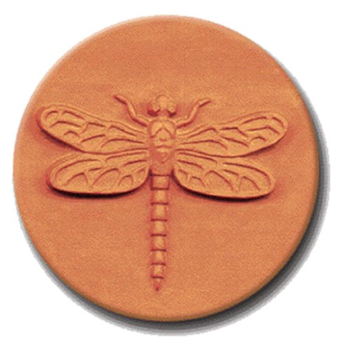RYCRAFT 2 inch Round Cookie Stamp with Handle & Recipe Booklet-DRAGONFLY