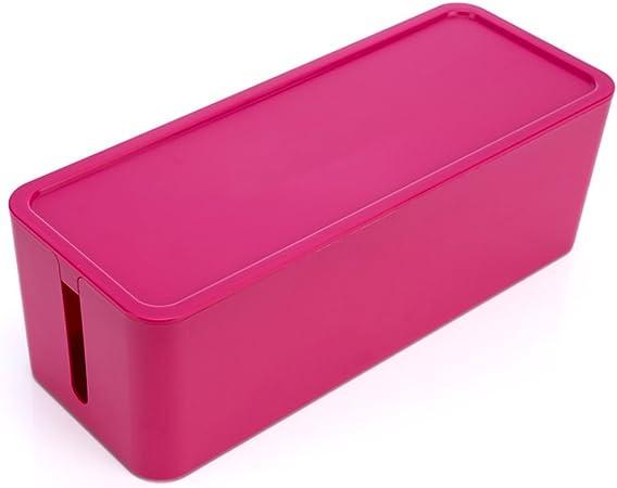 ounona regleta Cable Management Box Organizador plástico caja de almacenamiento, para escritorio de cable TV Computer USB Hub – Tamaño S (Rojo): Amazon.es: Hogar