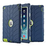 iPad 4 Case,iPad 3 Case,iPad 2 Case, UZER Tire Pattern Shockproof Anti-slip Silicone