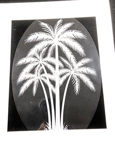 DCentral Palm Tree Removable Window Decal. Look of CLEAR Etched Glass. 8