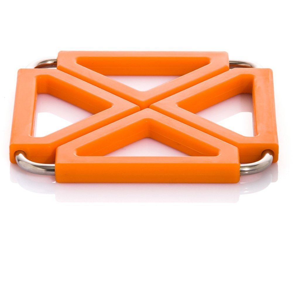 ZHAS hot pad/Kitchen stainless steel silicone heat-resistant mat/Place mat/table mat/mat/pot mat-A 12x12cm(5x5inch)