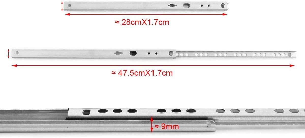 17 mm SurePromise Juego de 5 gu/ías para cajones