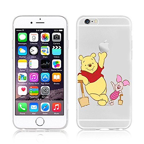 Disney Winnie The Pooh & Friends Transparent TPU Soft Case For Apple iPhone 7 Plus WINNIE & PIGLET 1