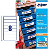 Avery E3214 Self-Adhesive Removable Tray And File Labels, 8 Labels Per A4 Sheet