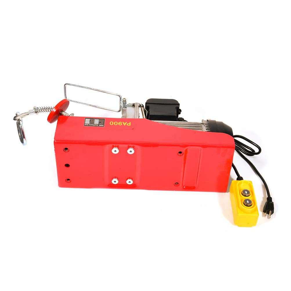 cciyu Electric Workshop Garage Hoist 110V 2000 LBs for Vertically Lifting