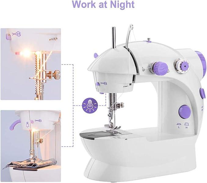 Byilx - Minimáquina de coser portátil, máquina para arreglos con ...